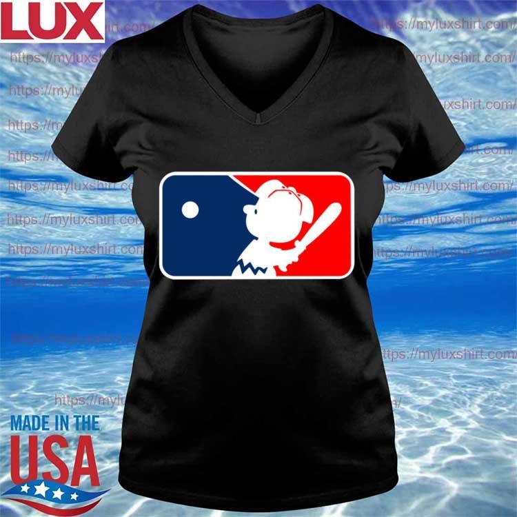 Charlie Brown Major League Baseball MLB s V-neck