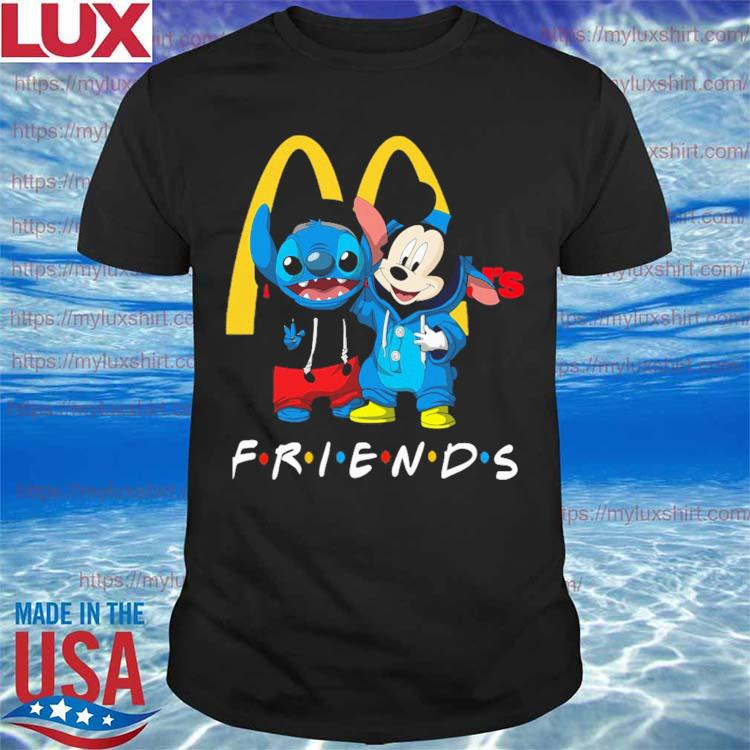 Baby Mickey Mouse and Stitch Friend MCdonalds shirt