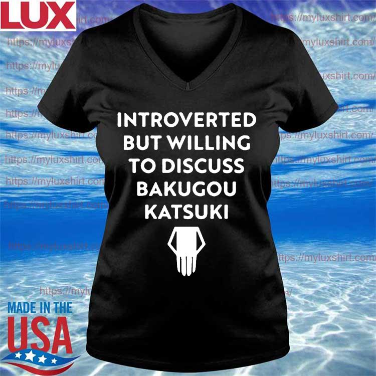 Dad Introverted But Willing To Discuss Bakugou Katsuki Happy Father's Day Shirt V-neck