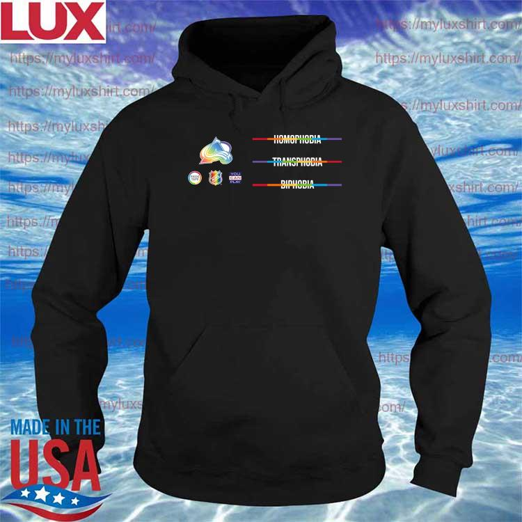 LGBTQ Against Homophobia Transphobia and Biphobia is observed around the world on May 17- We join the NHL s Hoodie