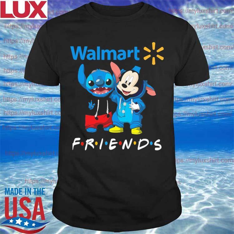 Mickey Mouse and Stitch Friend Walmart shirt