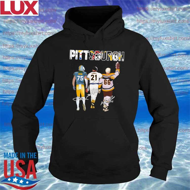 MVP player Pittsburgh Team Sports Kevin Greene Roberto Clemente Mario Lemieux signature s Hoodie