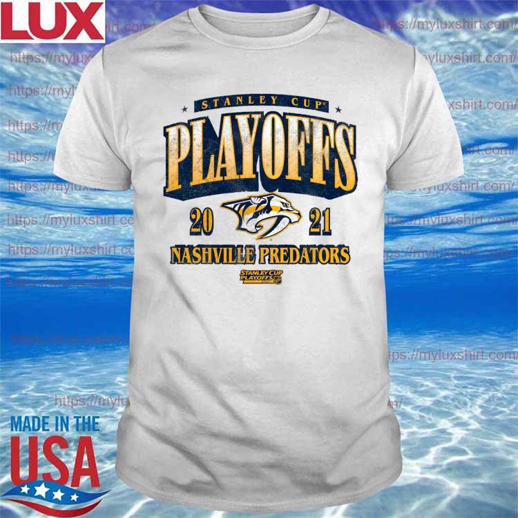 Nashville Predators Fanatics Branded 2021 Stanley Cup Playoffs Bound Ring the Alarm Tri-Blend T-Shirt