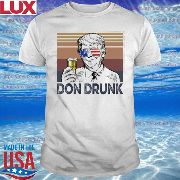 Official Donald Trump Son Drunk drink Beer the 4th of July 2021 Retro vintage shirt