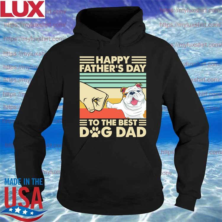 Pug Happy Father's Day to the best Dog Dad vintage s Hoodie