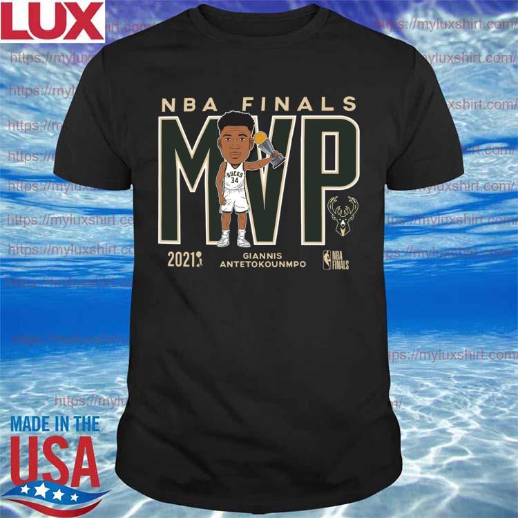 '47 Brand 2021 NBA Champions Giannis MVP Milwaukee Bucks T-Shirt