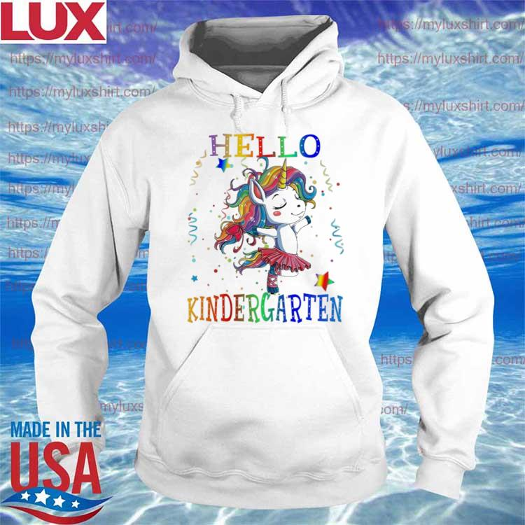 Unicorn Hello Kindergarten Back to School s Hoodie