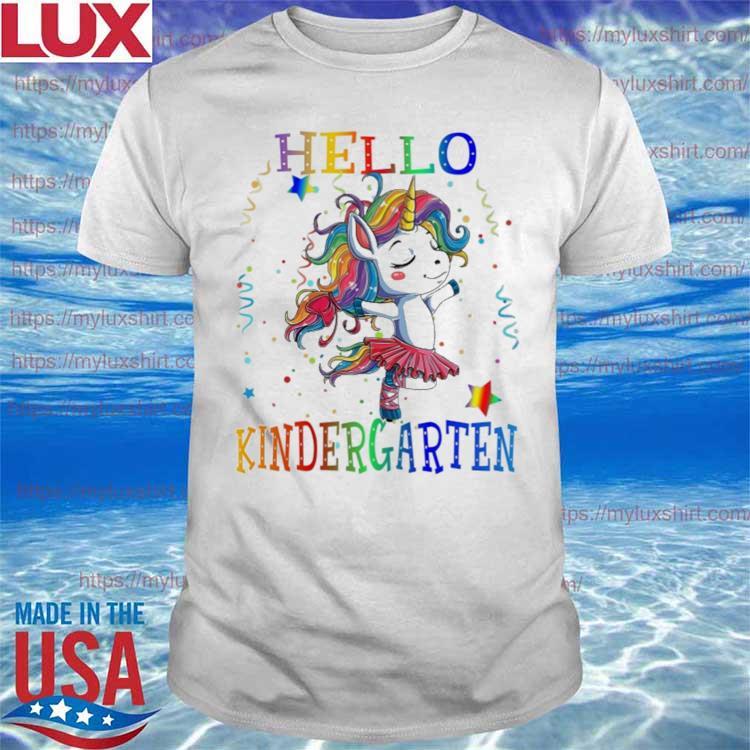 Unicorn Hello Kindergarten Back to School shirt