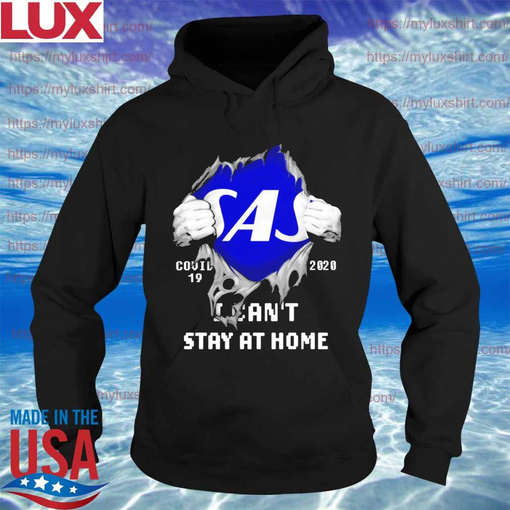 Blood inside me Scandinavian Airlines covid-19 2020 I can't stay at home s Hoodie