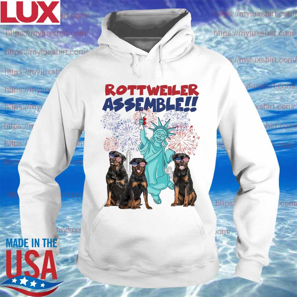 Rottweiler Assemble happy independence American s Hoodie