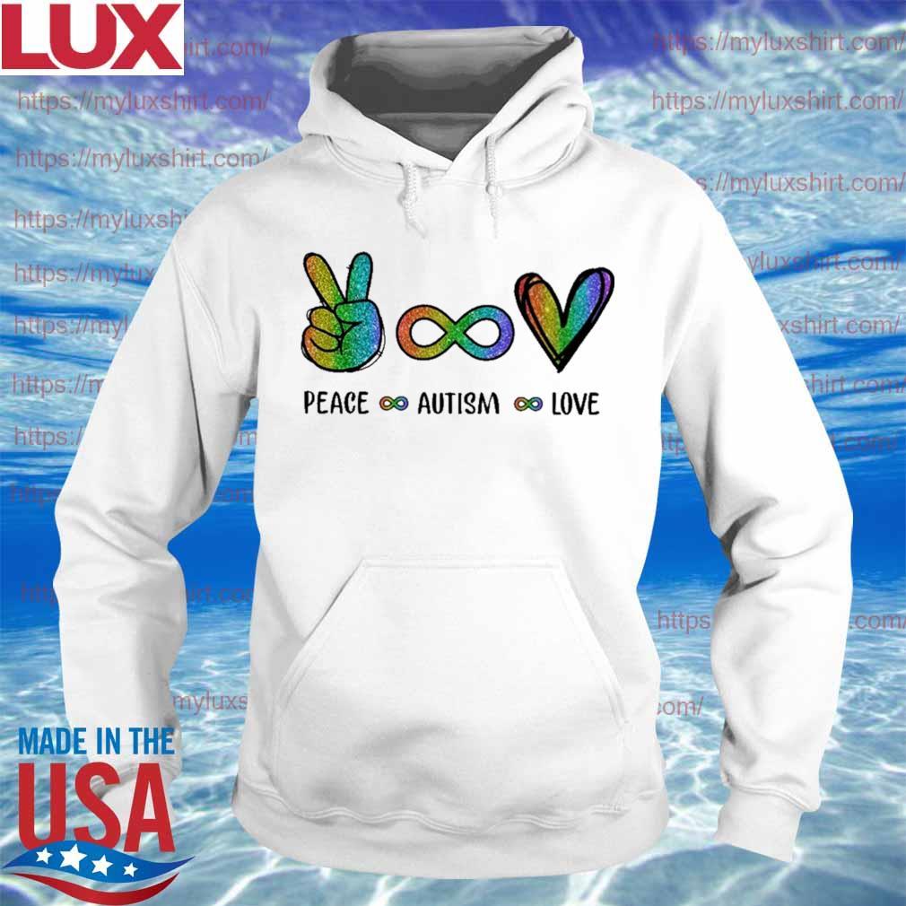 LGBT Peace Autism Love Diamond s Hoodie