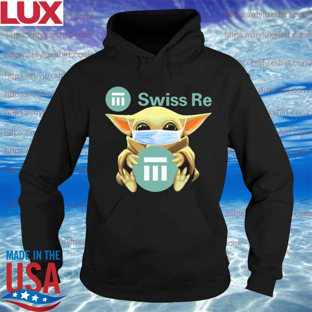 Baby Yoda face mask hug Swiss Re s Hoodie