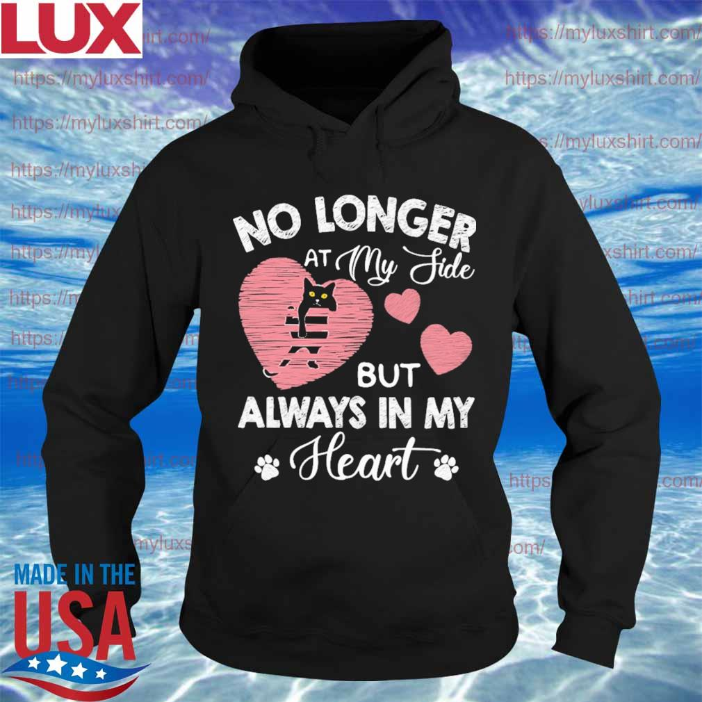 Back Cat No longer at My side but always in My Heart pink s Hoodie