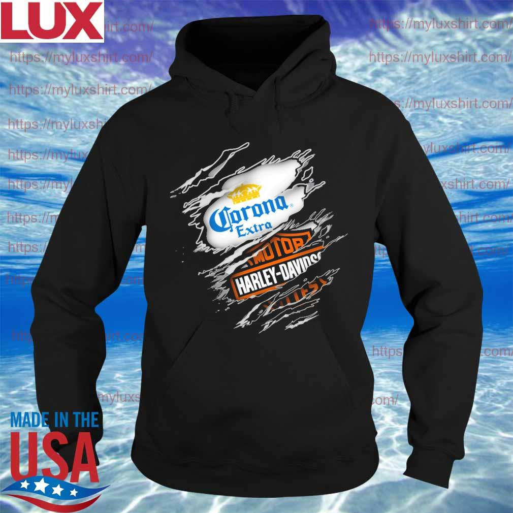 Blood inside Corona extra and Motor Harley Davidson s Hoodie