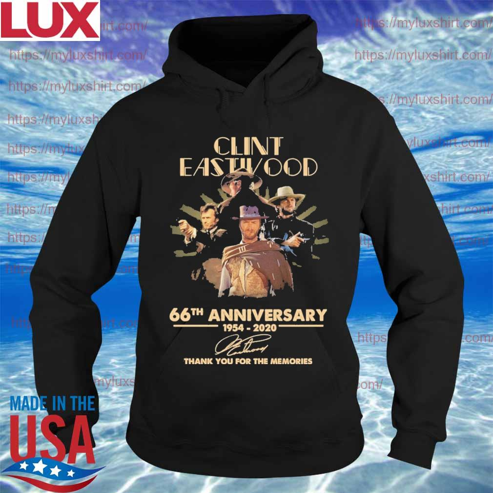 Clint Eastwood 66th anniversary 1954 2020 thank you for the memories signatures s Hoodie