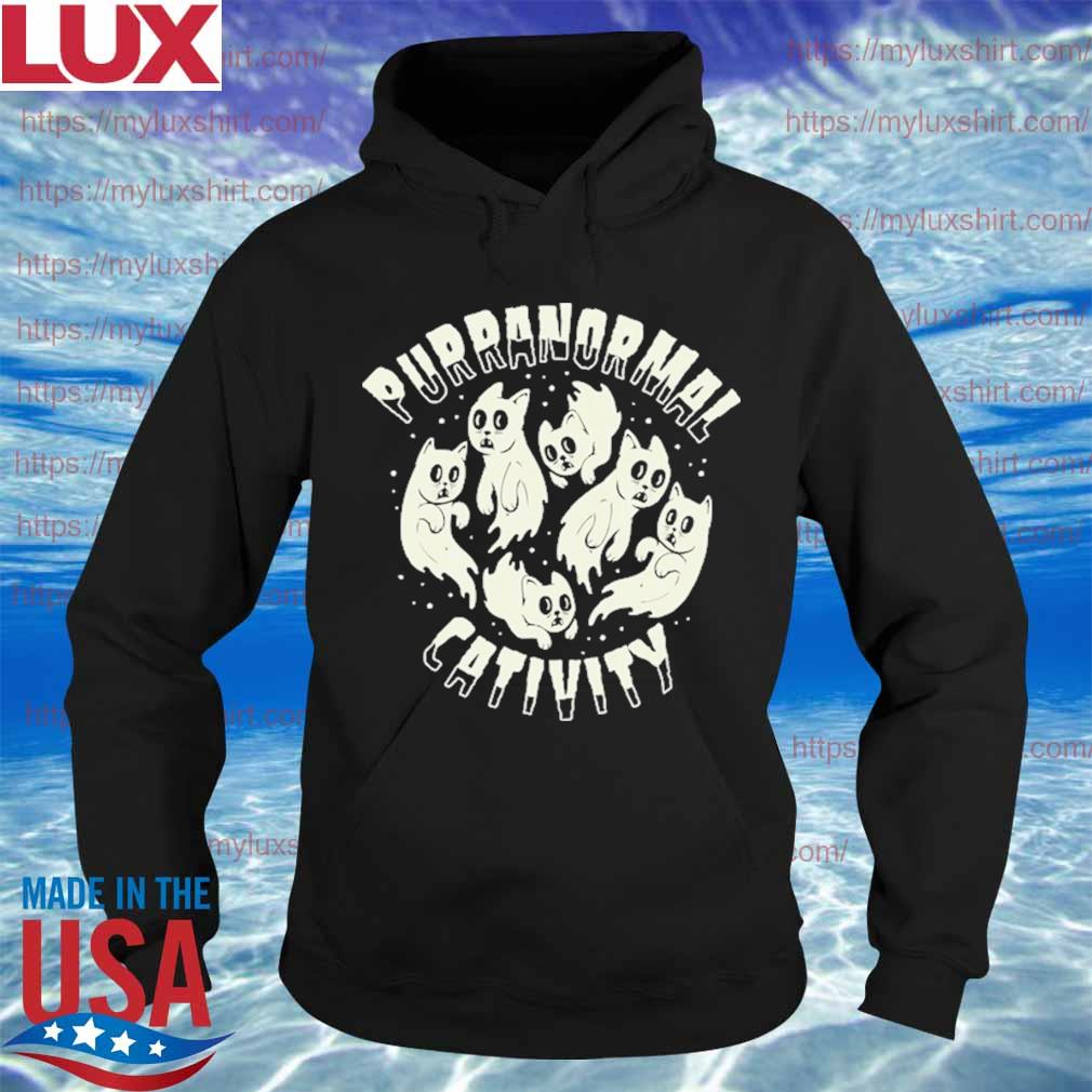Ghost Cats Purranormal Cativity Halloween s Hoodie
