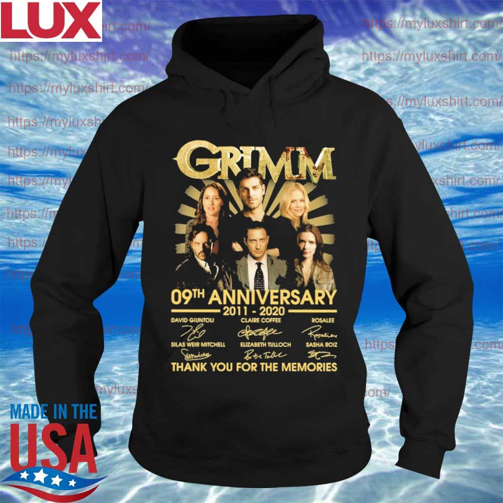 Grimm 09th anniversary 2011 2020 thank you for the memories signatures s Hoodie