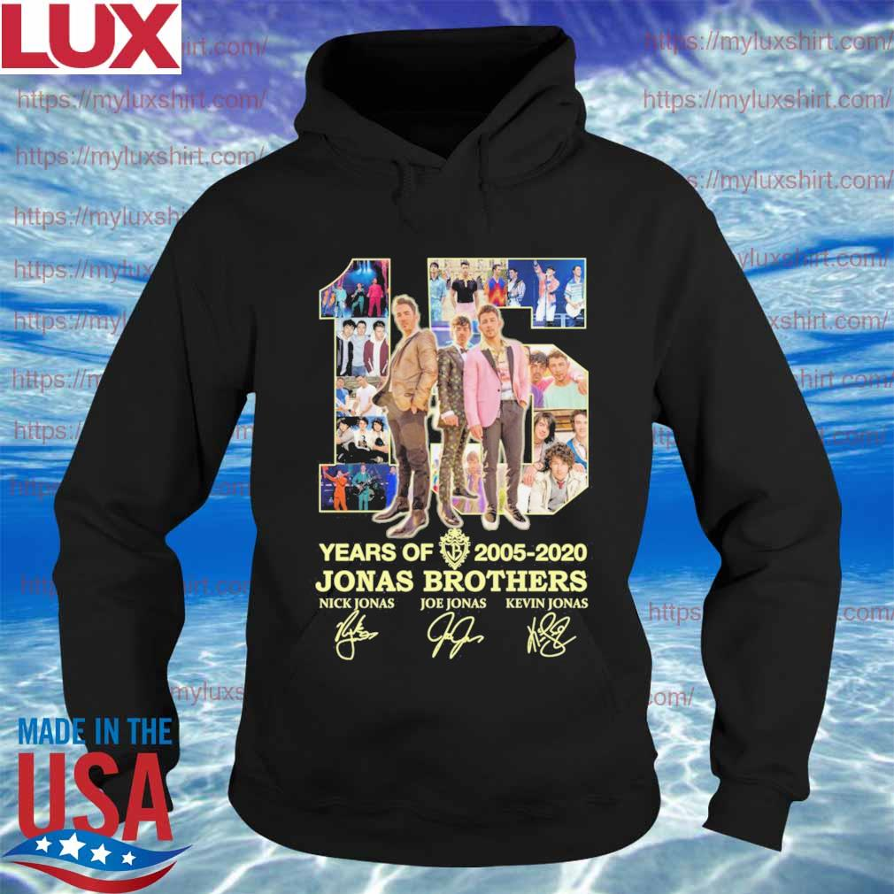 Jonas Brothers 15 years oif 2005 2020 signatures s Hoodie