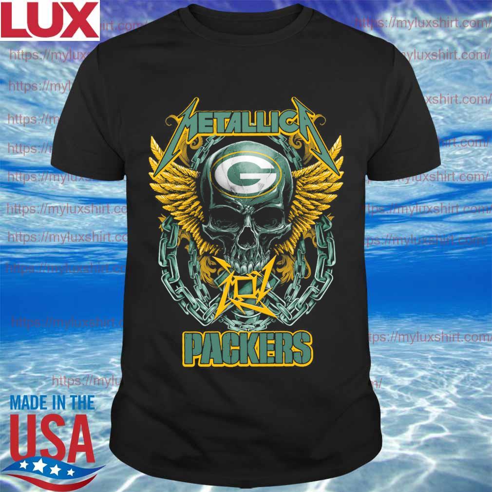 Metallica band skull Green Bay Packers shirt