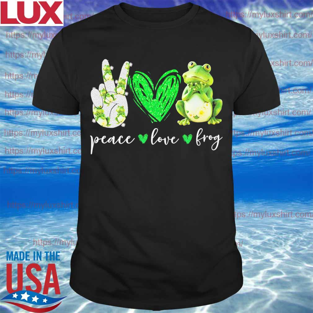 Peace Love Frog diamond shirt