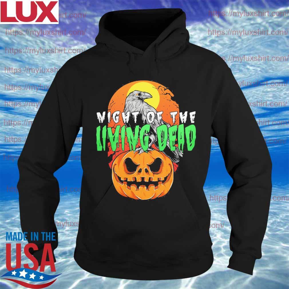 Raven Pumpkin Night of the Living Dead Halloween s Hoodie