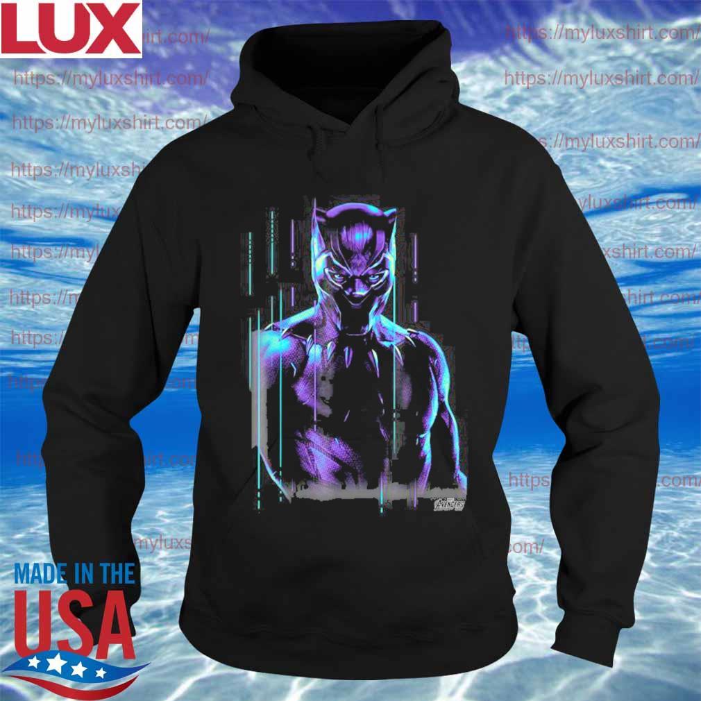 Rip Chadwick Boseman Marvel Infinity War Black Panther Neon Glow Graphic Shirt Hoodie