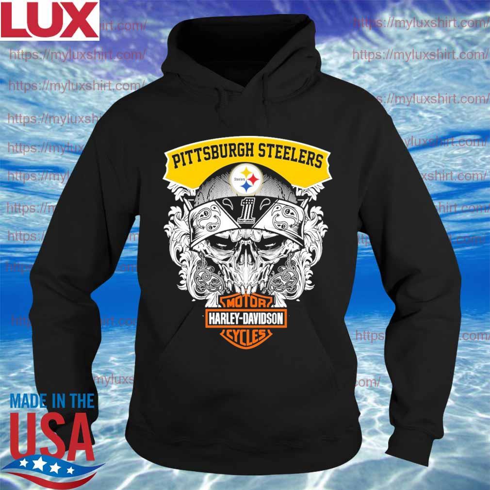 Skull Motor Harley Davidson Pittsburgh Steelers s Hoodie