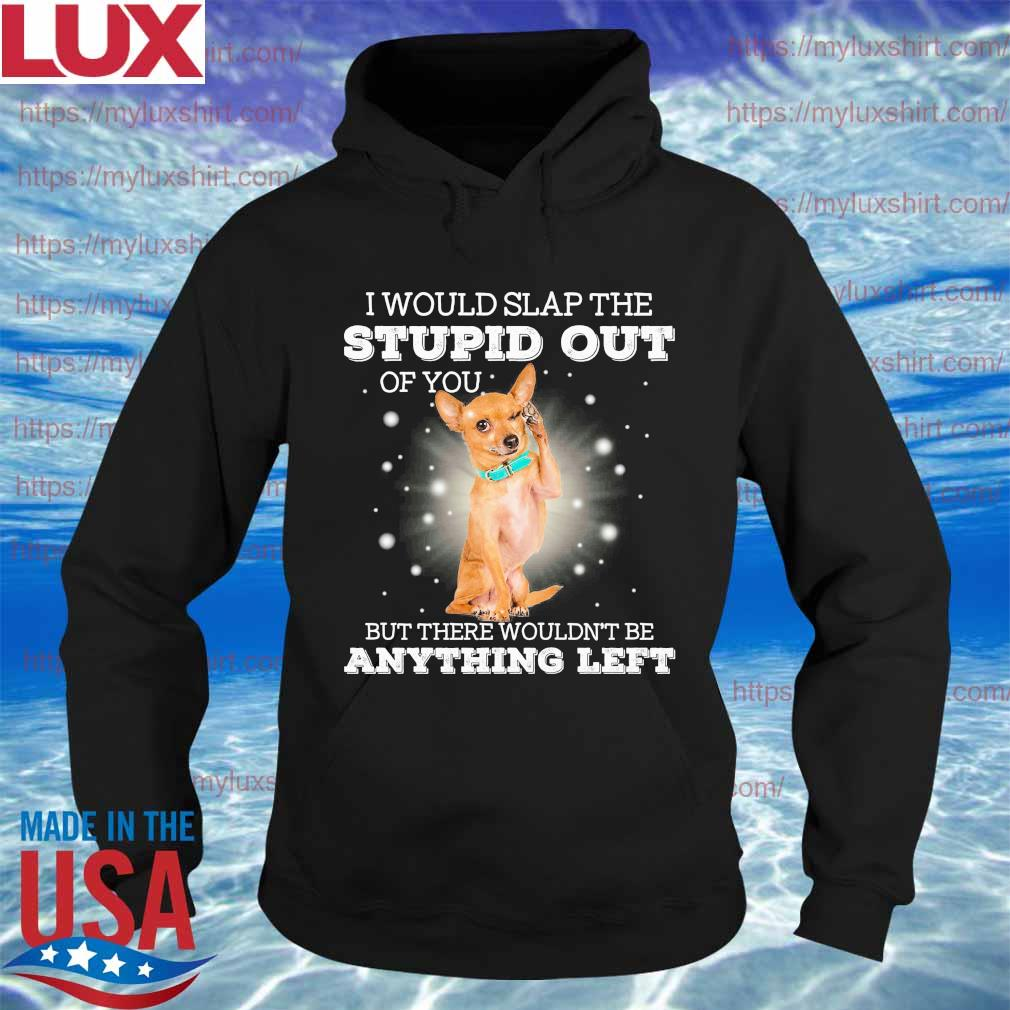 Chihuahua I would slap the stupid out of You but there wouldn't be anything left s Hoodie