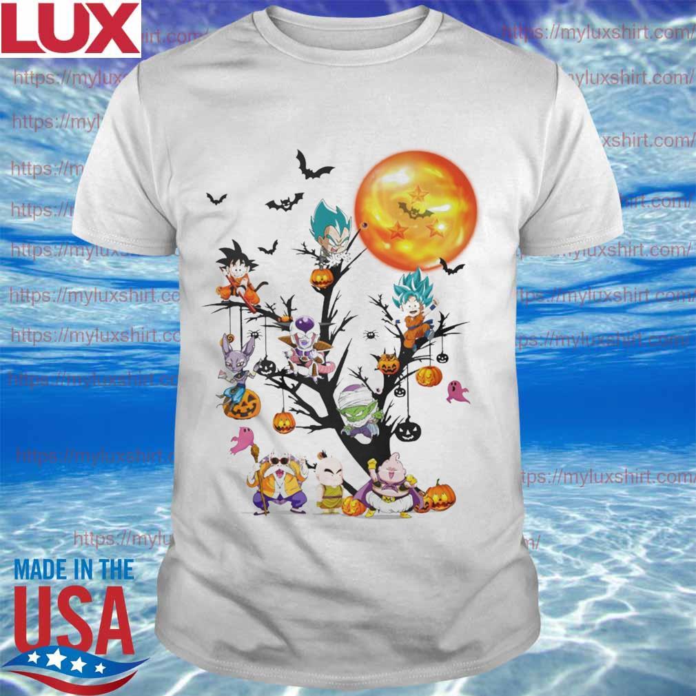Dragon Ball characters tree home happy Halloween shirt