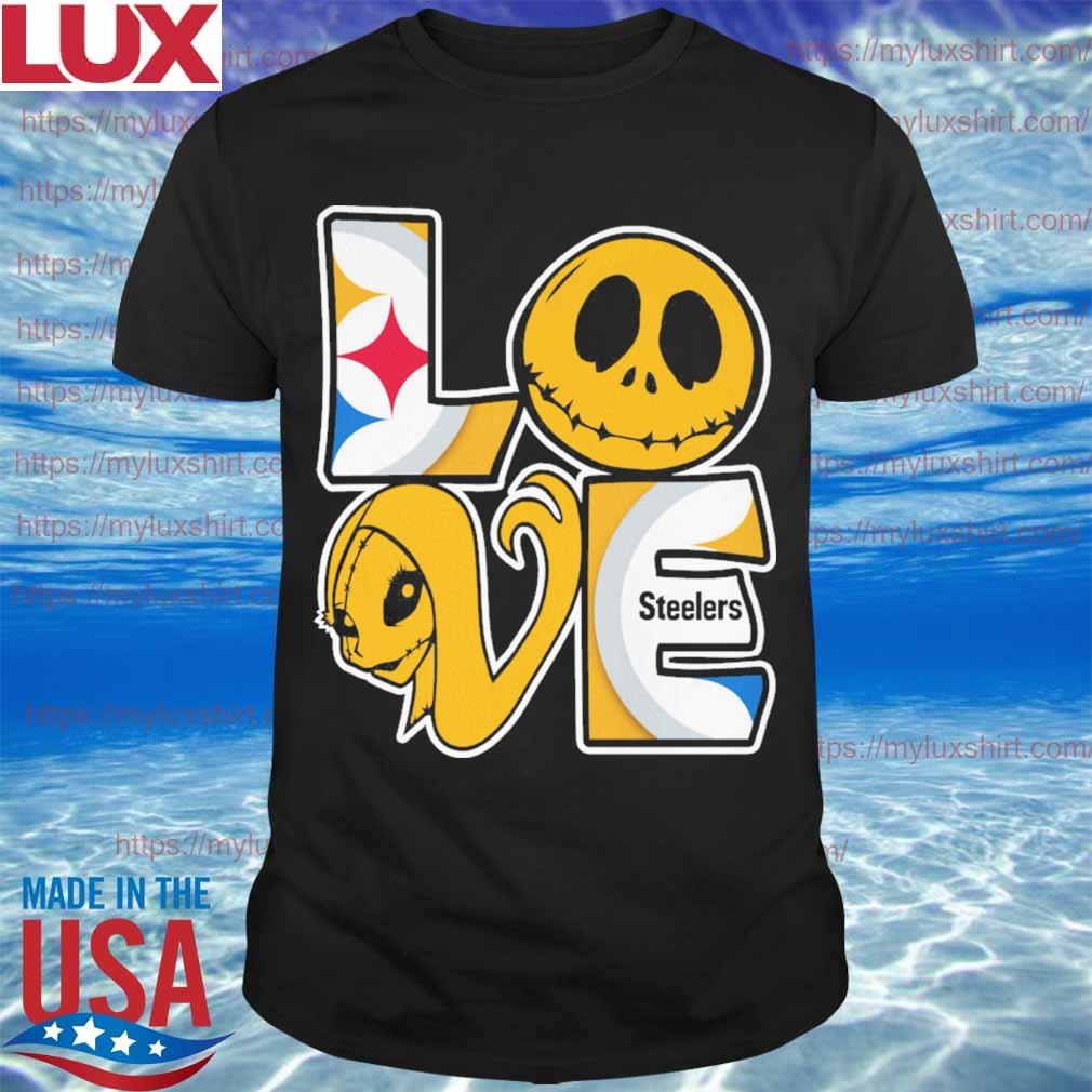 Jack Skellington and Sally love Pittsburgh Steelers shirt