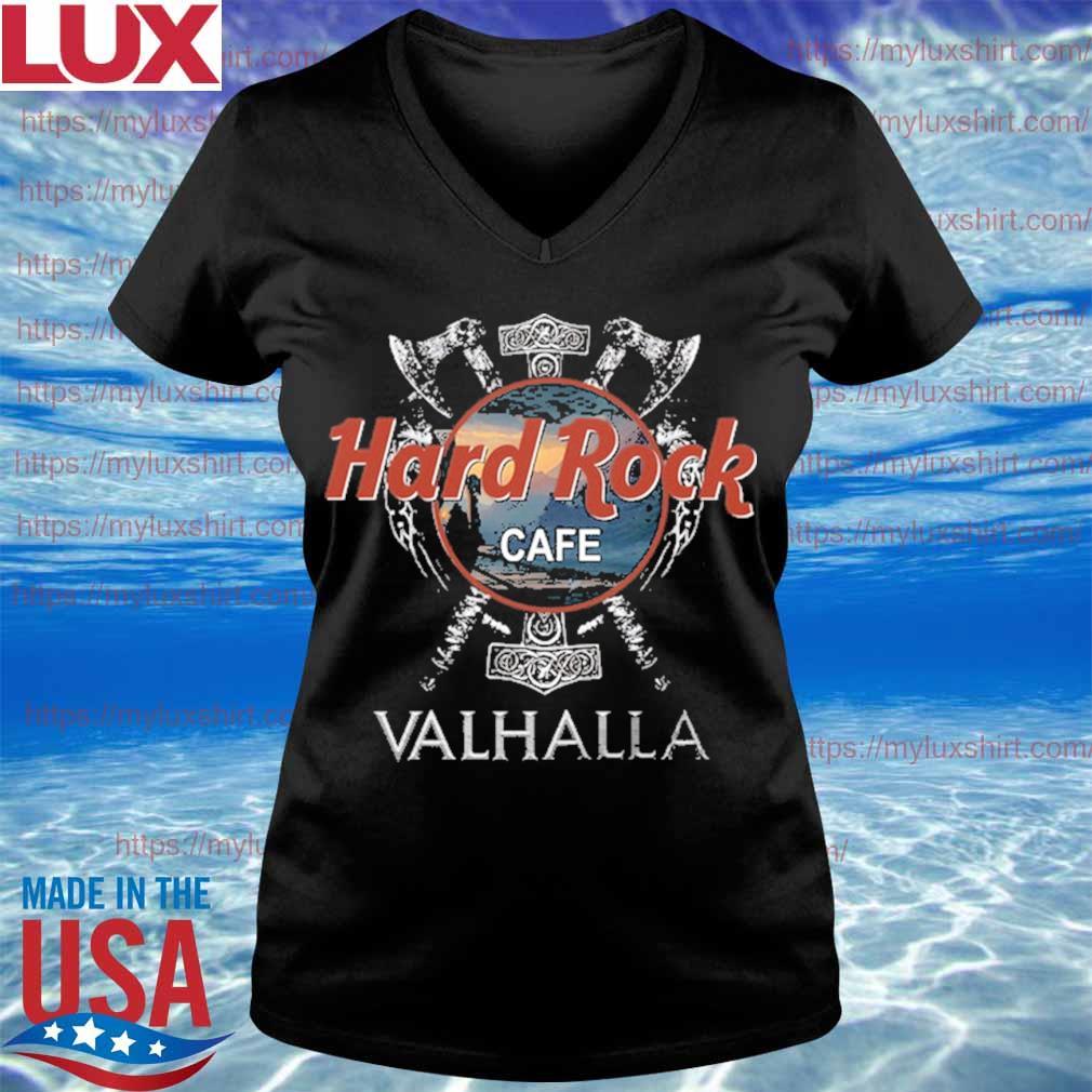 Official Hard Rock Cafe Valhalla funny s V-neck