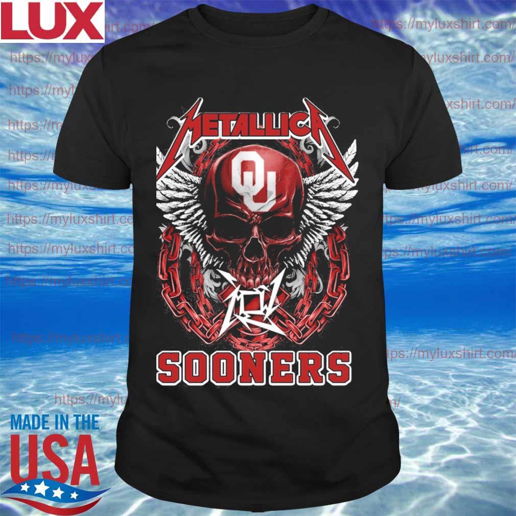Skull Metallica Oklahoma Sooners shirt