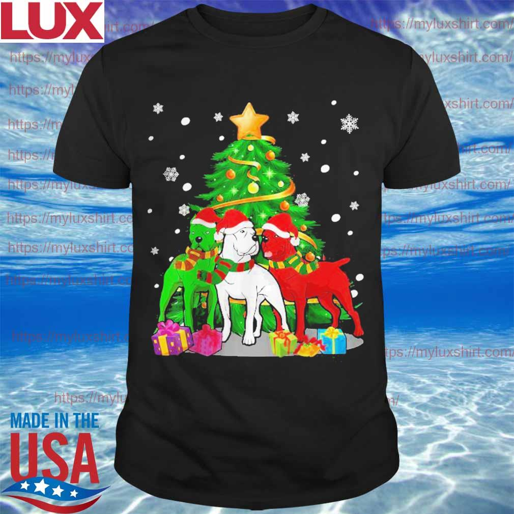 Funny Cane Corso Dog Merry Christmas shirt