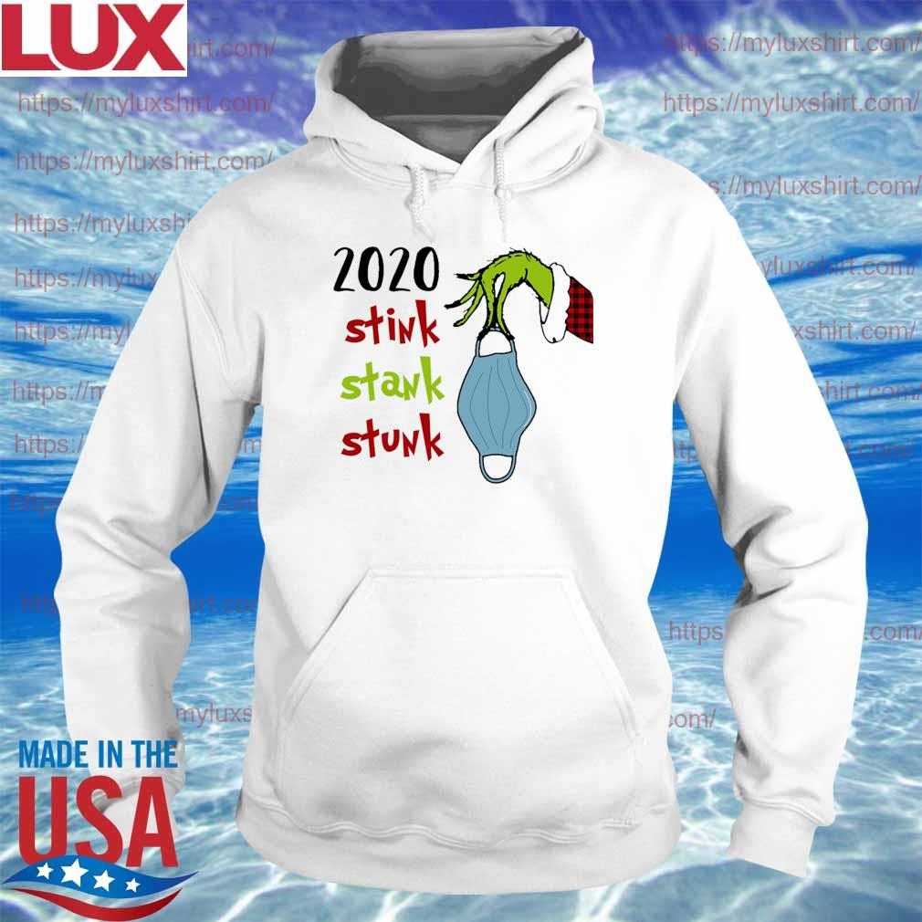 Grinch hand face mask 2020 stink stank stunk Christmas s Hoodie