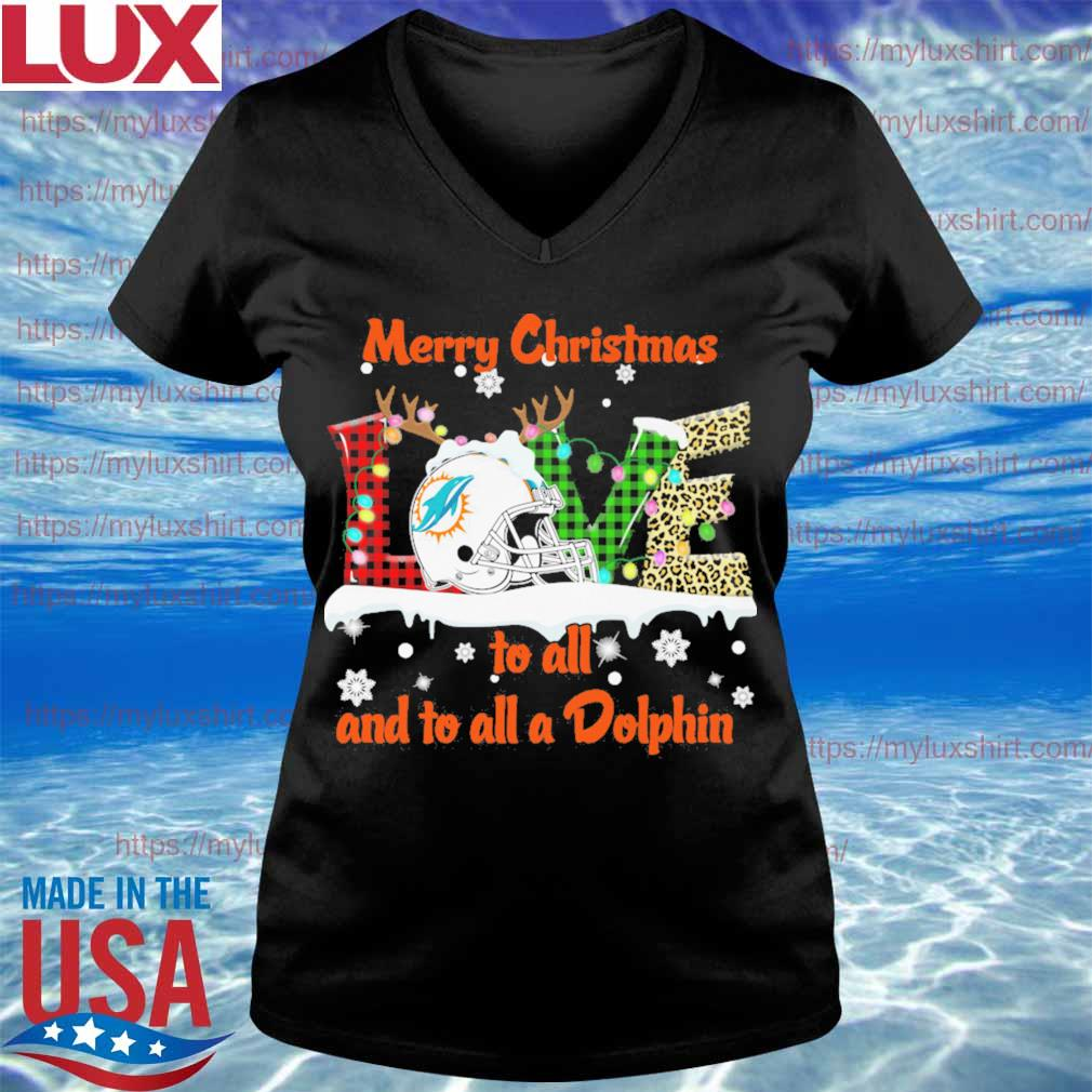 Love Merry christmas to all and to all a Miami Dolphins 2020 s V-neck