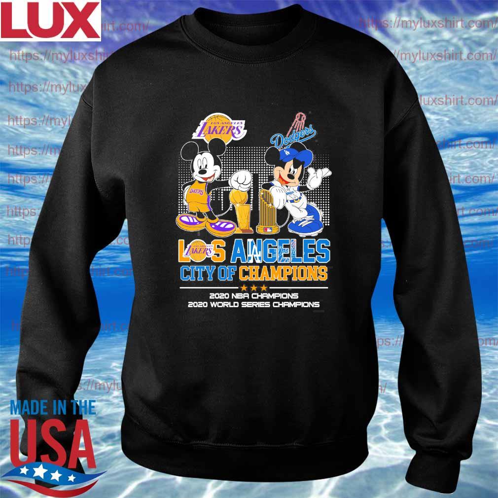 Mickey Mouse Disney Love LA Lakers and Dodgers city Champions 2020 s Sweatshirt