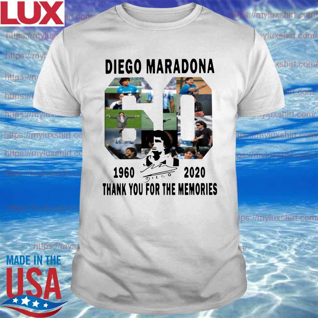 Official Diego Maradona 1960-2020 Thanks You For The Memories signature Shirt