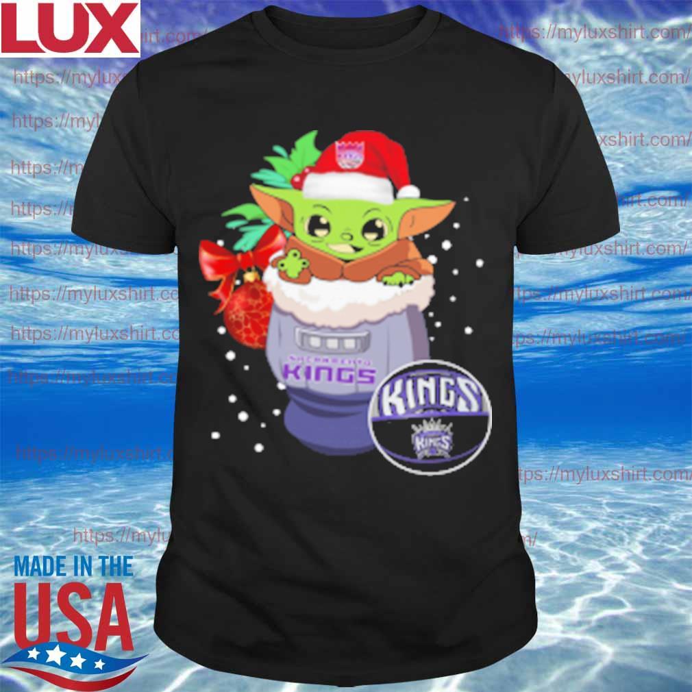 Sacramento Kings Christmas Baby Yoda Star Wars Funny Happy NBA T-Shirt