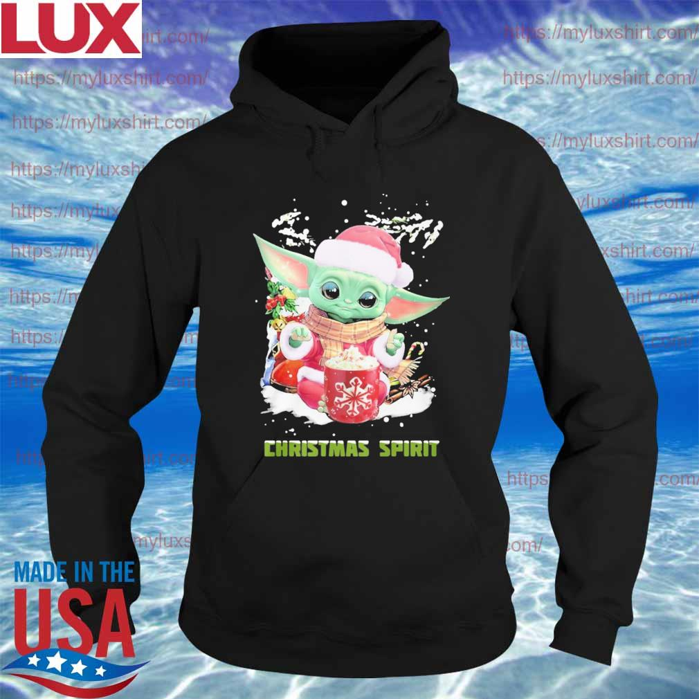 Baby Yoda Santa Christmas Spirit sweats Hoodie