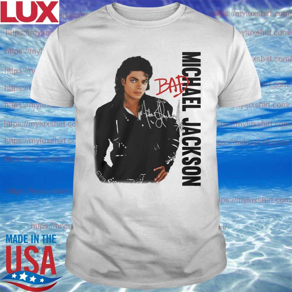 Michael Jackson Bad signature shirt