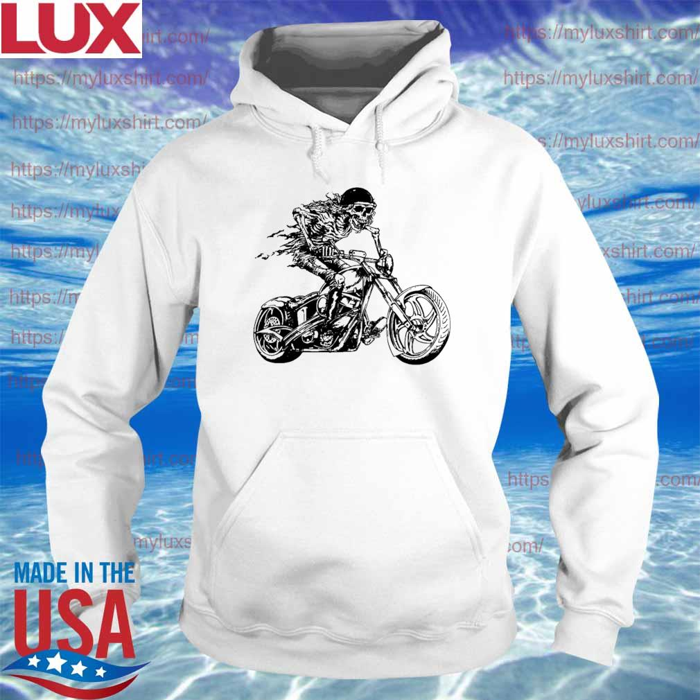 Motorcycle Rider Graphic Skull Design Biker s Hoodie