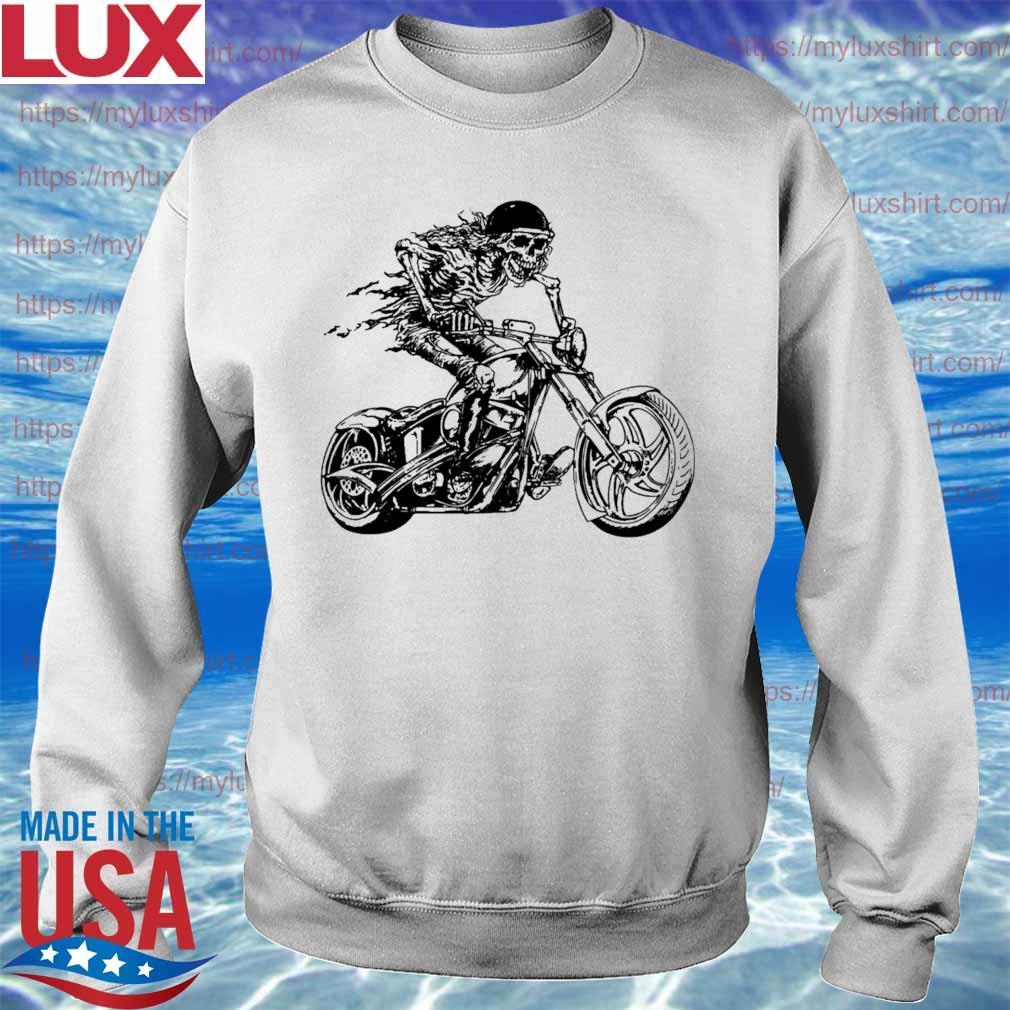 Motorcycle Rider Graphic Skull Design Biker s Sweatshirt