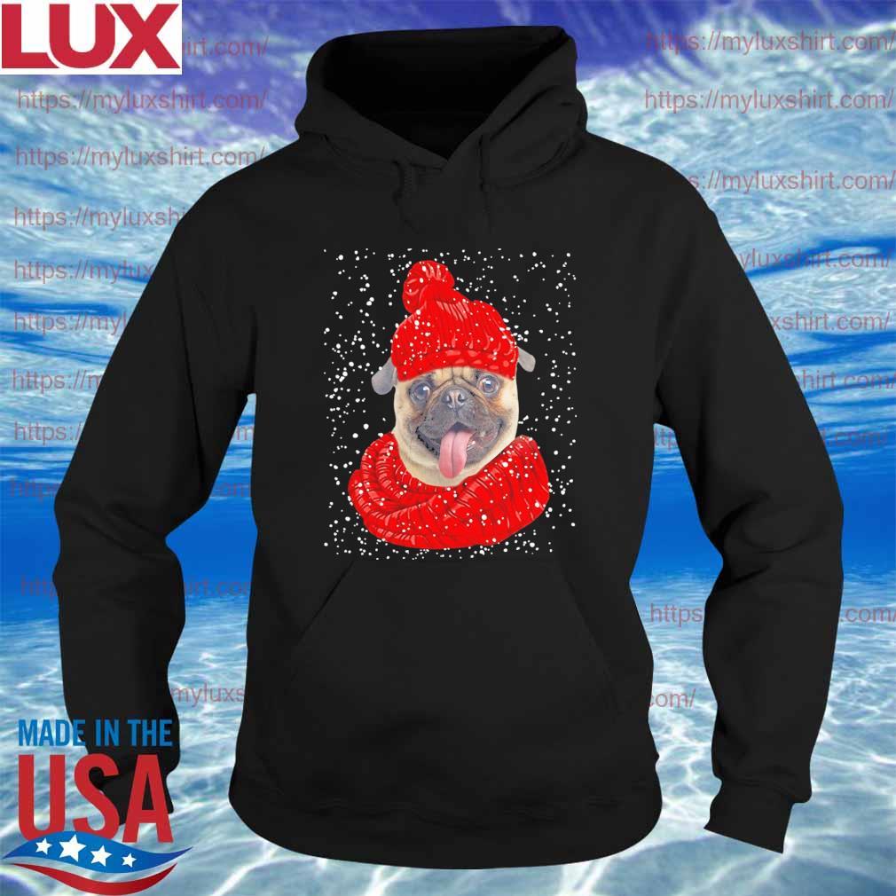 Pug Hat Merry Christmas sweats Hoodie