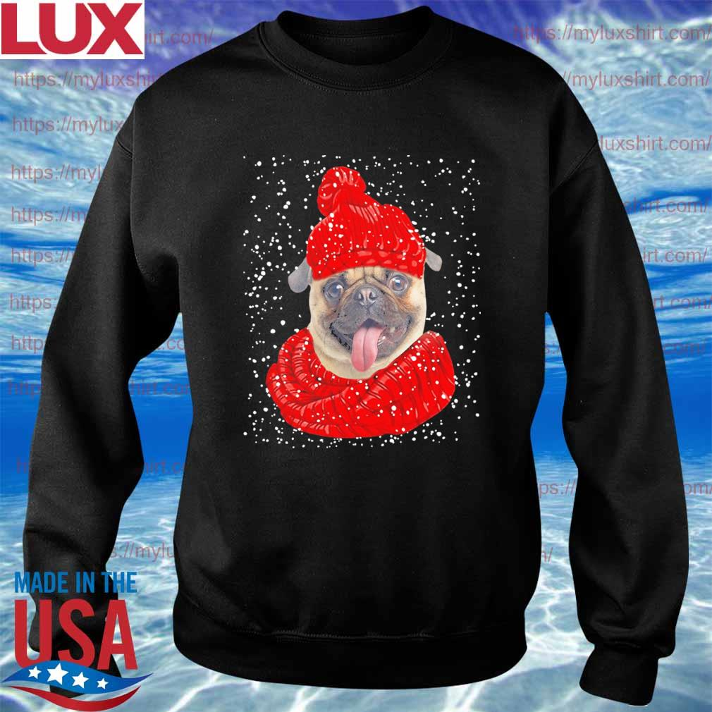 Pug Hat Merry Christmas sweats Sweatshirt