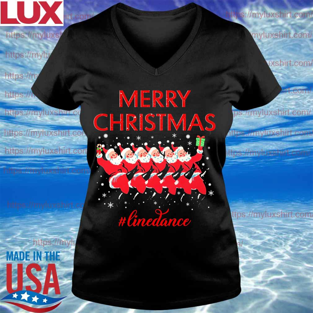 Santa Claus Merry Christmas #Line Dance s V-neck